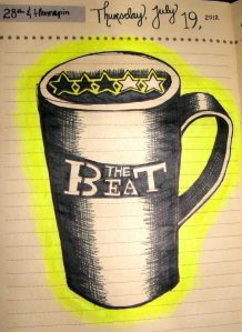 The Beat cup drawing
